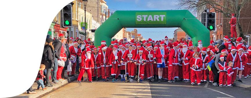 Santa Dash start line
