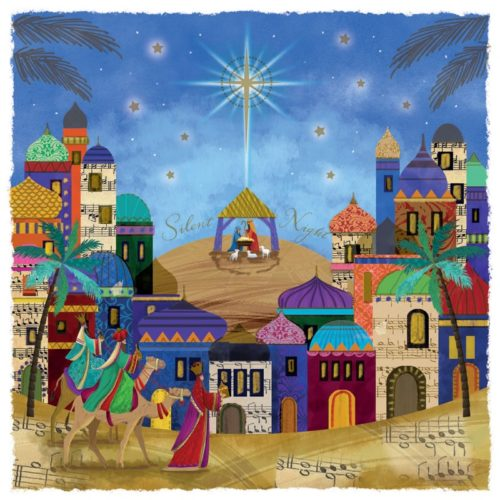 Bright Silent Night Oakhaven Hospice Christmas card