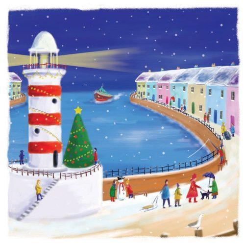 Christmas by the sea Oakhaven Hospice Christmas card