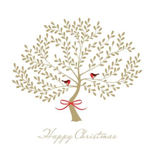 Golden Tree Oakhaven Hospice Christmas card