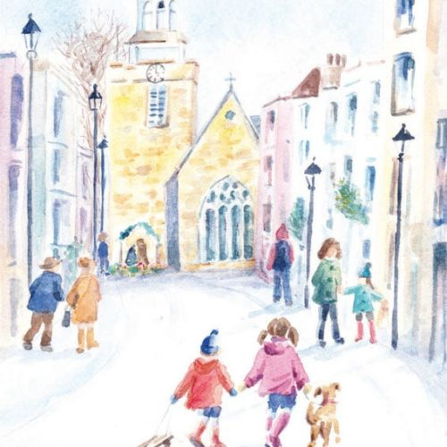 Lymington High Street Christmas Card Oakhaven Hospice