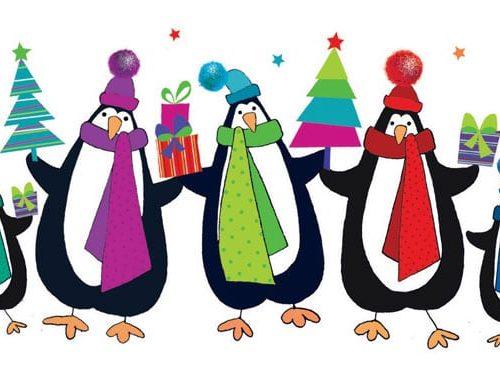 Penguin Family Oakhaven Hospice Christmas card
