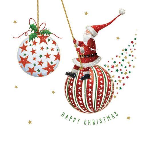 Santa bauble Oakhaven Hospice Christmas Card