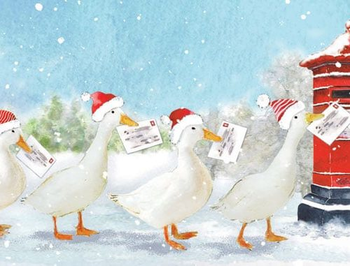The Geese Post Oakhaven Hospice Christmas Card