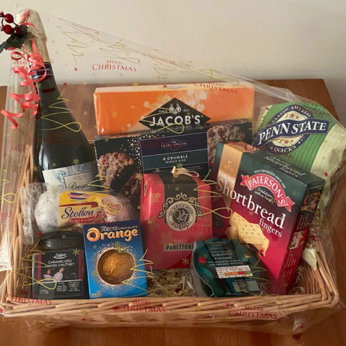 Luxury food hamper Oakhaven Hospice Christmas gifts