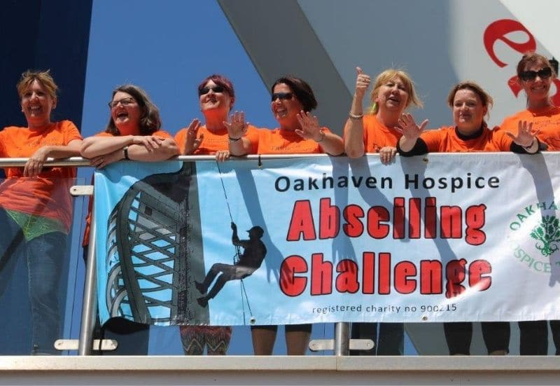 Abseil for Oakhaven Hospice